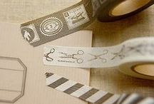 Masking tape and craft punch / My favorite masking tape and craft punch / by nico JapaneseRubberStamps