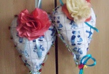 Fabric Hearts  textile and more..... / Beautiful fabric hearts  and more .... / by Wanda Maria Roszak