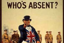 British WW I propaganda/recruitment / In World War I, British propaganda took various forms, including pictures, literature and film. Britain also placed significant emphasis on atrocity propaganda as a way of mobilizing public opinion against Germany. / by Petra