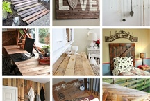 Wood Pallet Creations  / Repurpose wood pallets into great things for your home / by Pink About it