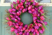 Wreaths and Door Wreath Inspiration / by Karen Innis Creative Director The Flower Academy Inc Ltd