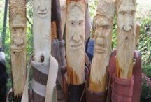 Art- Wood/ Sticks/ Canes / The amazing talent - to bring new life wood.  Beautiful - Practical - Unique - Amazing / by Barbra