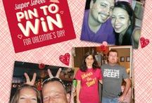 Super Sweet Pin to Win  / Enter our Super Sweet Pin to Win for Valentine's Day Giveaway by:  1.) digging up (or snapping) your cheesiest couple photo. 2.) Pin your photo and tag it with #mfcbigcheese.  3 winners will receive a personalized Valentine's Day tin featuring their photo and filled with 36 Nibblers bite-sized cookies!  / by Mrs. Fields