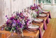 Purple Wedding / purple wedding colors, inspiration, and ideas / by Sara | Burnett's Boards