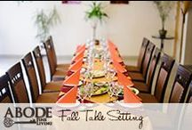 Fall Table Settings / Create the perfect fall table settings  / by Abode Fine Living