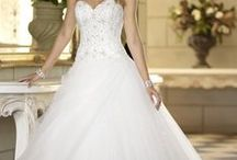 Full A-Line / It's very similar to a ball gown only slightly less full. It makes it easier to move and is more fitted to the waist. The waistline is usually natural unlike the varying ball gown. / by Elizabeth Smith