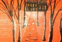 Projets d'arts d'automne / Des idées pour les cours d'arts plastiques qui se présentent bien en automne / by Louise Gagnon