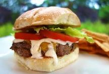 burgers & sliders & fries / all kinds of burger & sliders / by Eve Gourley