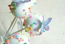 cake  & cookie pops / food on a stick / by Eve Gourley