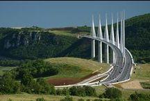 Pont, Viaduc, Aqueduc, Canal, Route, Passerelle, Barrage. / by Guy Combes