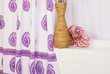 Indian Shower Curtain / Attiser fabric shower curtains are unique designer curtains available in bohemian prints. / by Attiser