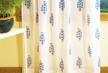 Indian sheer curtain / Decorative stylized Indian sheer curtain - Hand block printed from Attiser-French country drapes-