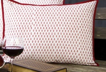 Red and White Pillow Covers / Red and White Country Style Pillows / by Attiser