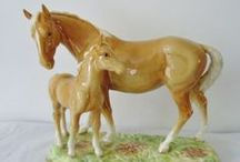 Model Horses - Beswick / Beswick - china horse figurines from England.  Discontinued in 1984 but some molds were then used by the Royal Doulton Company of England.   / by Lois Bennington