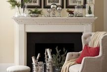 Fireplace and Mantle Decorating Ideas / Dress up the centerpiece of your living room this season in festive style and learn ways to turn an empty (or unused) hearth into a dazzling masterpiece!  / by Wayfair.com