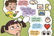 Whole Body Listening Larry / The Whole Body Listening Larry storybooks, based on the idea created by Susanne Poulette Truesdale (1990), provide fun ways to teach children how their eyes, hands, brains – their whole bodies! – communicate and affect the people around them. Parents, teachers and therapists use this book to teach this challenging concept through illustrated scenarios at home, in class, in the car, with friends, with grandparents, and in a number of other very recognizable situations.  / by Social Thinking
