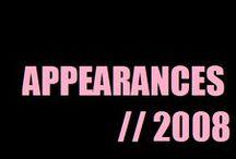 Appareances (2008) / by Alesha Dixon (AleshaWorld)