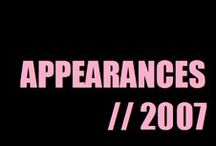 Appareances (2007) / by Alesha Dixon (aleshaworld.com)