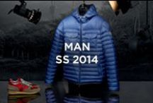 Mens Spring-Summer 2014 / Precise volumes, avant-garde finishings and all-over patterns, this is Moncler's stylistic characteristic for men in Spring-Summer 2014. / by Moncler
