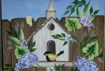 ~2º Decorative painting one stroke~ / Decorative painting / by Sonia Aguiar