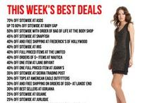 Must Get Deals of the Week / All of weekly and weekend top deals.  Find a list of merchants and their top sales/deals for the week! / by Chippmunk - Let's Shop!