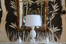 First impressions / stencils and wallpaper / by Denise Lachinski