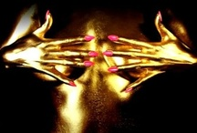 """Goldfinger / metallic oro golden beauty bodypainting. - Goldfinger said, 'Mr Bond, they have a saying in Chicago: """"Once is happenstance, twice is coincidence, the third time it's enemy action.""""' / by Danıel Portmann"""