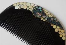 Kushi, kanzashi, kogai and other things /  A gathering together of all the beautiful combs, kushi, kanzashi and kogai in any material, and from any date, that I have come across.  I hope to find more information on these beautiful masterpieces. / by Patricia Johnstone