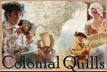 "Colonial Quills / Colonial Quills is a website devoted to promoting colonial American inspirational fiction. Contributors or ""Colonial Quillers"" are Christian writers formed from the Colonial American Christian Writers group, founded by author Carrie Fancett Pagels. / by Colonial American Christian Writers"