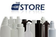 Our Products: Plastic Bottles / Plastic bottles for all your packaging needs: Round jugs, condiment bottles, spice jars, water and dairy containers, and more. For more information, please call 630-629-6600 or visit our e-store at www.thecarystore.com. / by The Cary Company - Containers, Packaging and More