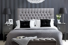 Monochrome Chic Bedrooms / Monochrom bedrooms are the height of style and simple sophistications so deck out your bed to your floor in monochrome chic / by Time4Sleep