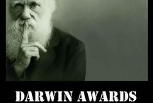 Darwin Award Winners & Runners Up / The Darwin Awards are a tongue-in-cheek honor, originating in Usenet newsgroup discussions circa 1985. They recognize individuals who have supposedly contributed to human evolution by self-selecting themselves out of the gene pool via death or sterilization by their own (unnecessarily foolish) actions.  / by Des Cannon