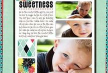Papercraft Scrapbooking / Samples of completed scrapbook pages offering inspiration and scraplifting opportunities to scrappers. / by Monica Bourne