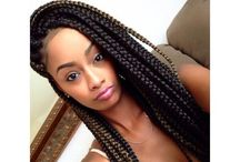 Box & Marley Braids/ Twists/braided updos / BOX BRAIDS/ Micros/ Twist or braided updos/ Twist / by Dena Thomas