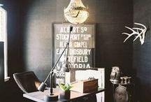 dark grey rooms / 50 shades of interior decor... / by hautepop