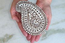 Hand Block Printing India / by Red Persimmon Imports - Katrina Ulrich
