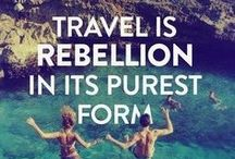 Words of Wanderlust  / Quotes and words of wisdom that inspire travel and adventure...see the beautiful world and book that next trip today. / by Jet Set Candy™