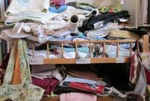 """Your Sewing Stash & Space / Post what your sewing stash or sewing space looks like for a chance to win a webinar """"How To Tame, Love & Use Your Fabric Stash"""" with host Laura Stone Roberts  / by Sew News"""