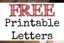 FREE Printables:Letters/Numbers/etc / by Vinetta Fanchar
