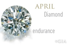 April- Diamond / April's birthstone is Diamond. How lucky are you! Check out some fabulous ideas to represent your birthstone. / by Since1910