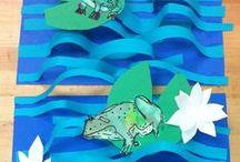 grenouille ... crôa / thème batraciens / by Christel Ponsero