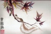 Chinese Brush Paintings by Tracie Griffith Tso / Works of inks and colored pigments on rice paper, silks and more in a portfolio of traditional Chinese brush painting. / by Tracie Griffith Tso