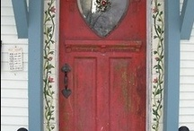 DO COME IN! / I really hate plastic doors. There are so many wonderful doors out there! Can you imagine in the future anyone bothering to pin pictures of plastic doors????? / by joan joyce
