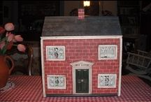 """Dolls Houses for Children / I think it is a really sad that so many """"used"""" dolls houses have never been properly furnished and decorated. Here are some that I have done for children of friends and family and some others that capture my imagination! / by joan joyce"""