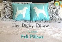 Felt Pillows / You need a felt pillow I feel bad for you son, I got 99 pillows so go pick out some! / by American Felt and Craft
