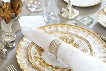 Table settings~~~ / There is nothing so satisfying as setting a beautiful table... / by Carmen / Menopausal Tassels