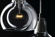 Glass - Lighting / LIghting, lamps and pendants that show the beauty of glass. #glass #home / by BottlesUpGlass
