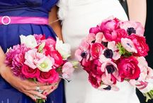 Flowers - Pink / Floral arrangements featuring shades of bright and deep pink. / by Sarah-Lou