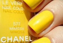SS14: The Yellow Nail Varnish / It's bold, it's bright and it's oh-so-beautiful! There's something about the Chanel yellow nail varnish that we simply love. Team it with gorgeous cobalt blue or striking monochrome that makes the colour simply pop! Let the shopping begin...! / by F&F
