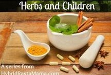 Herbs and Children / DIY natural herbal remedies for common childhood illnesses, injuries, and other ailments including teas, tonics, tinctures, compresses, bath soaks, salves, ointments, lotions, and more. Herbs and essential oils as well as homeopathic remedies.  / by Hybrid Rasta Mama